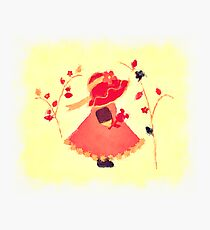 The Little Red Hat Photographic Print