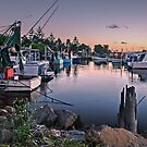 Fishing Fleet At Rest by bazcelt
