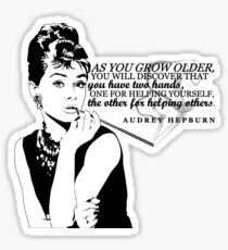 Audrey Hepburn | Helping Others Sticker