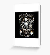 Jack's Pumpkin Royal Craft Ale Greeting Card