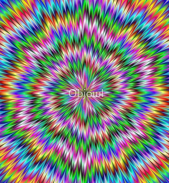 Psychedelic Swirl by Objowl