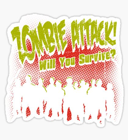 Zombie Attack! Sticker