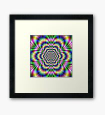 Psychedelic Hexagon Framed Print