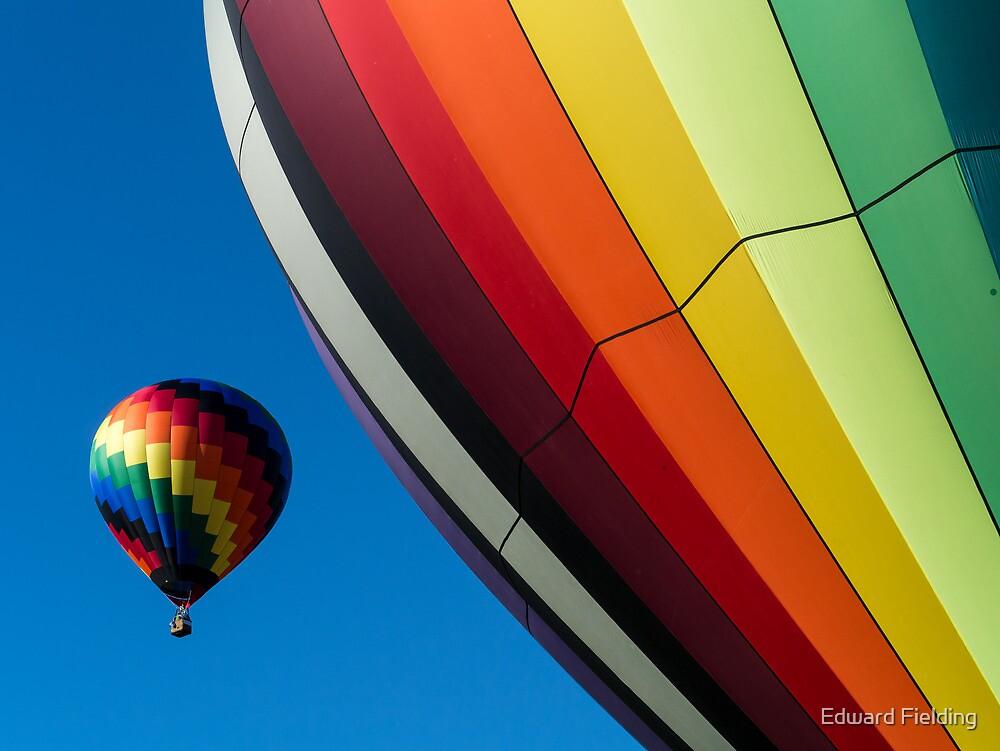 Hot Air Balloons Quechee Vermont by Edward Fielding