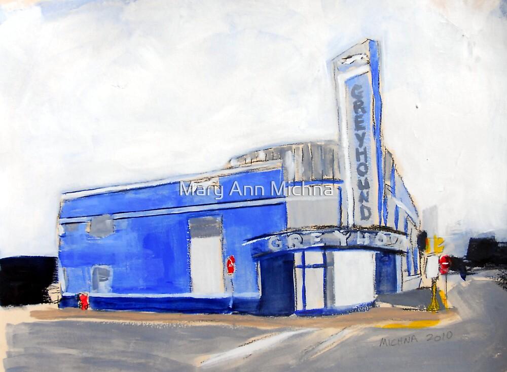 Evansville, Indiana Greyhound Bus Station by Mary Ann Michna