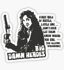 Big Damn Heroes: Zoe Sticker
