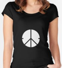 Universal Unbranding - Peace and War Women's Fitted Scoop T-Shirt