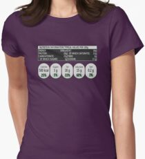 Nutritional Information Womens Fitted T-Shirt