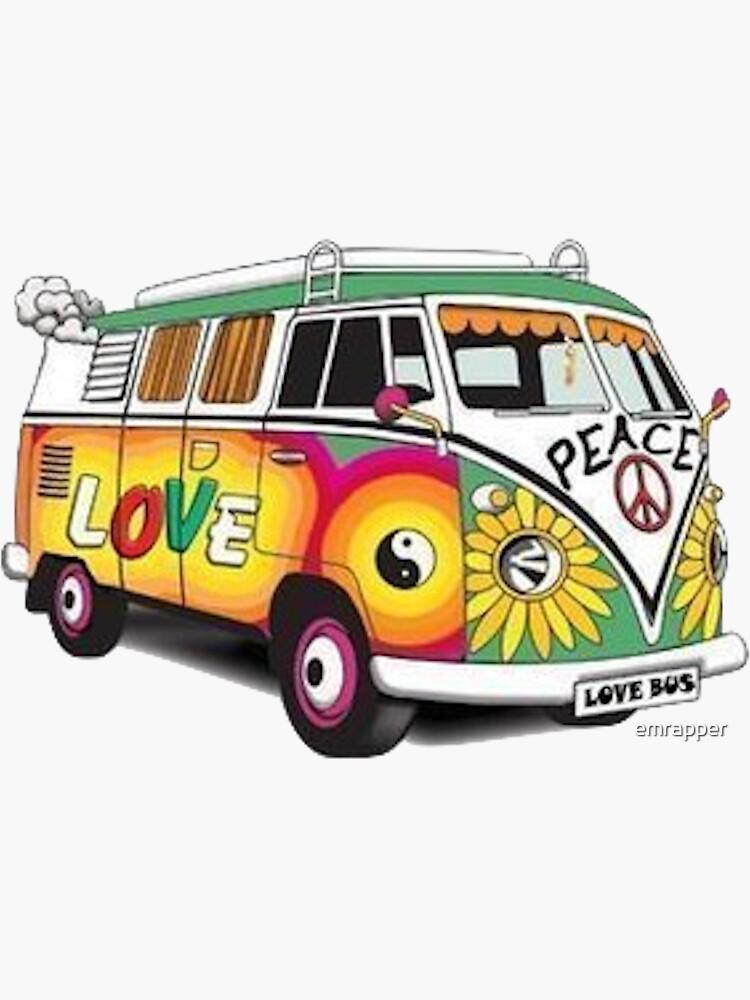 Hippy Van Aufkleber von emrapper