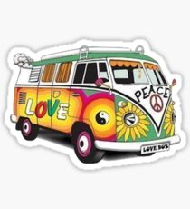 Hippy Van Sticker Sticker