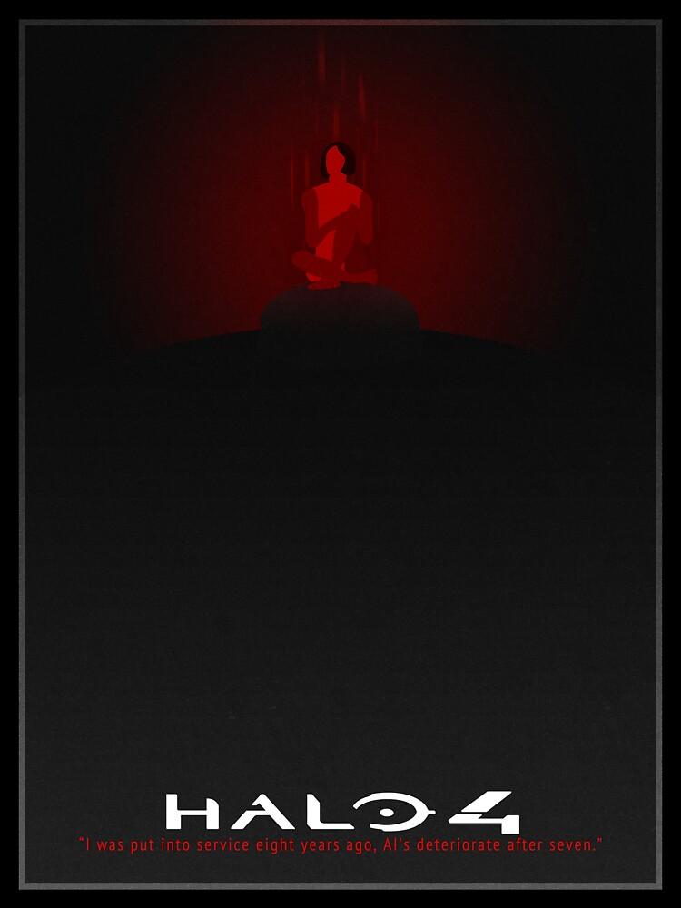 Halo 4 Cortana Rampancy Poster by taylderp