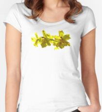 Backlit Yellow Orchids Women's Fitted Scoop T-Shirt