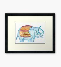 Birthday elephant Framed Print