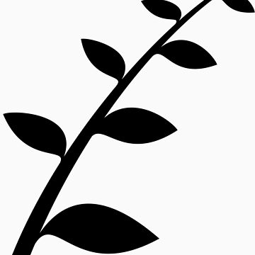 Simple black branch and leaves by Amsums13