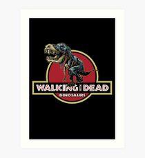 Walking With Dead Dinosaurs Art Print