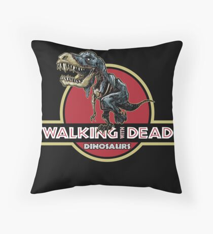 Walking With Dead Dinosaurs Throw Pillow