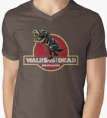 Walking With Dead Dinosaurs Men's V-Neck T-Shirt