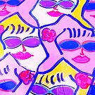 Pink and Blue Sunglasses Rock! by artqueene