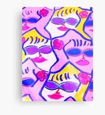 Pink and Blue Sunglasses Rock! Metal Print
