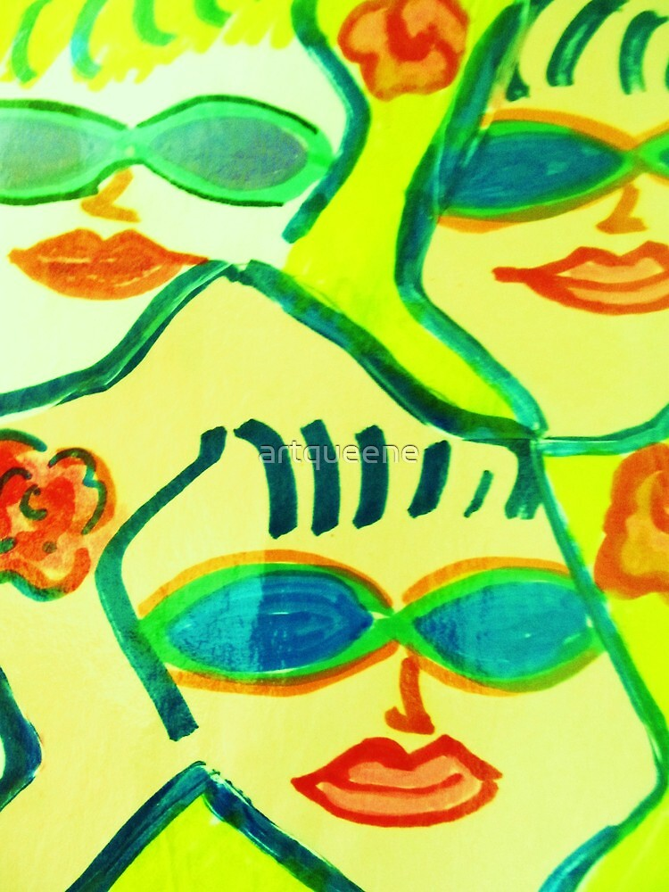 Yellow and Blue Sunglasses Rock!! by artqueene