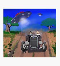 Flying Saucers Attack Teenage Hot Rodders Photographic Print