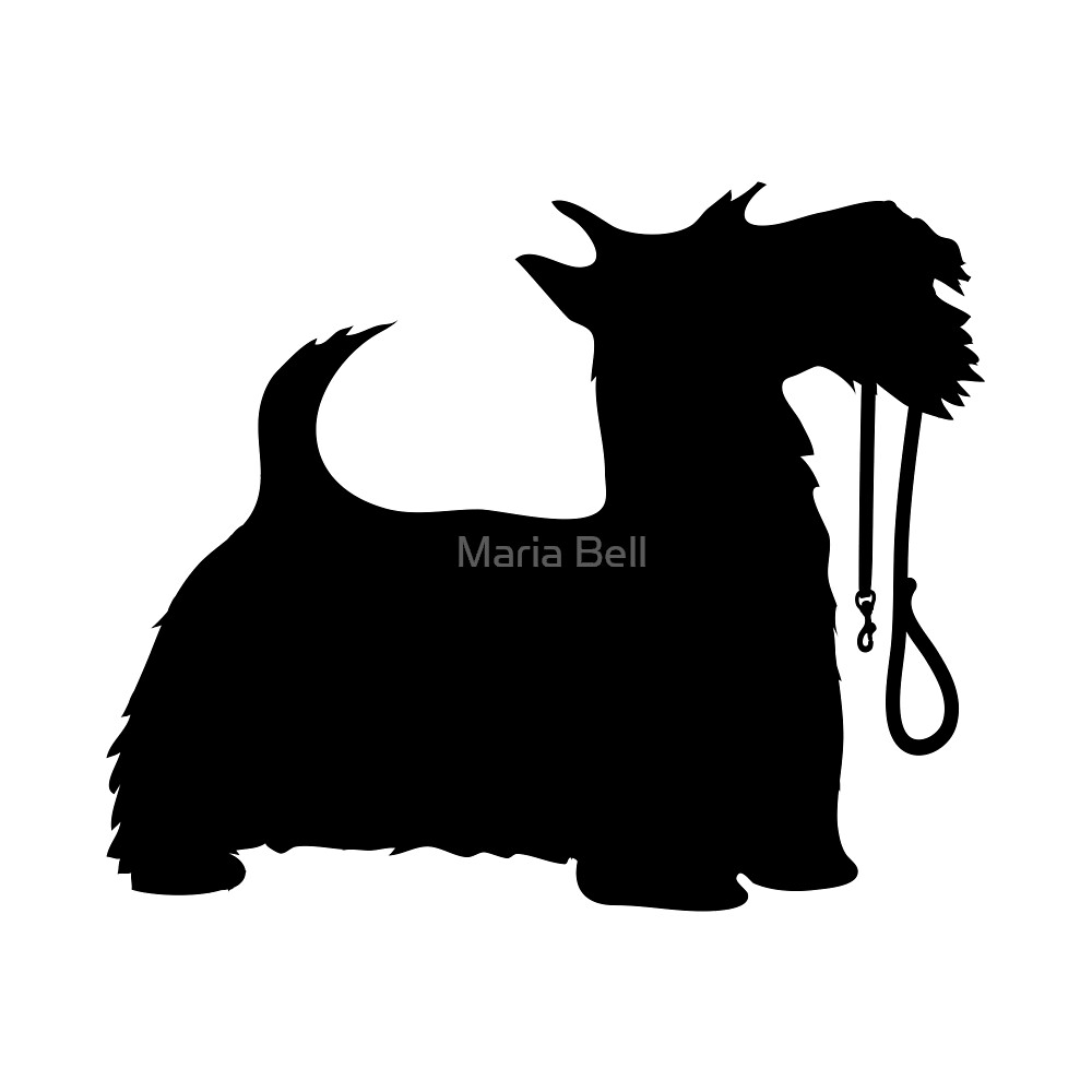 Scotty Dog and Leash by Maria Bell