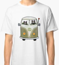 Two Cats in a Green Bus Classic T-Shirt
