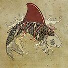 koi shark fin 03 by Vin  Zzep