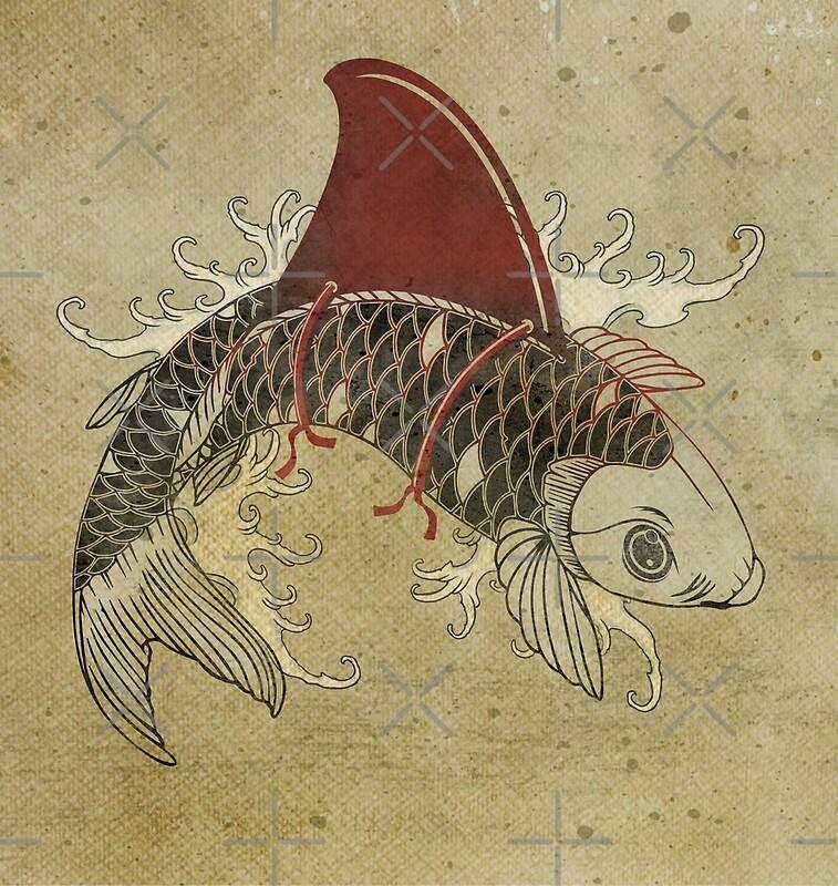 Ornamental carp posters redbubble for Decorative carp