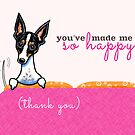 Thank You Dog So Happy Pink by offleashart