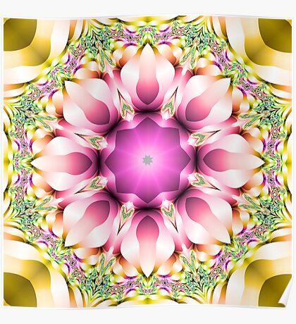 Escher's Fractal Rose Poster