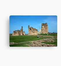 Priory castle Tynemouth Canvas Print