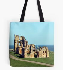 Priory castle Tynemouth Tote Bag
