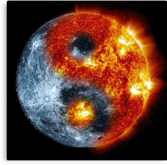 Sun Moon Yin Yang Canvas Prints By Gert Beukema Redbubble