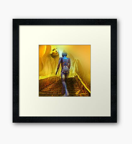 The golden stairs Framed Print