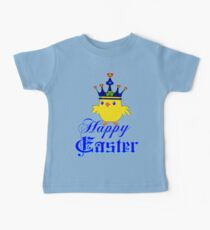 ㋡♥♫Happy Easter Blue Eyed Irish King Chicken Clothing & Stickers♪♥㋡ Baby Tee