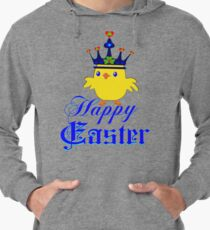 ㋡♥♫Happy Easter Blue Eyed Irish King Chicken Clothing & Stickers♪♥㋡ Lightweight Hoodie