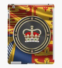 St Edward's Crown - British Royal Crown over Royal Standard  iPad Case/Skin