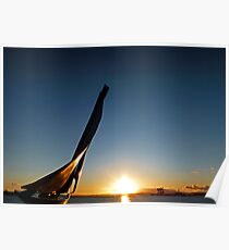 Fife Yacht Monument January Sunset Poster