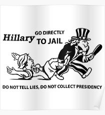 Hillary Clinton For Prison 2016  Poster
