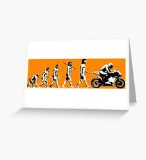 MOTORCYCLE EVOLUTION RACE BIKE Greeting Card