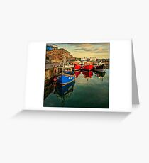Seahouses Sunset Greeting Card