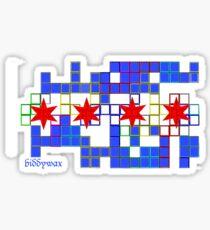 Tetris Chicago Sticker