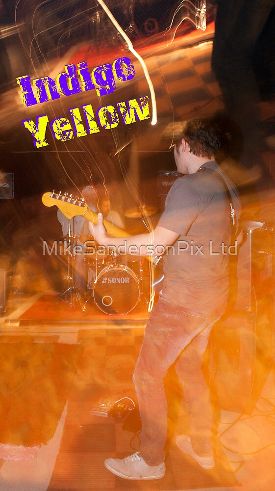 Indigo Yellow Band Poster - Flame by mps2000