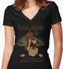 Captain Malcolm  Women's Fitted V-Neck T-Shirt