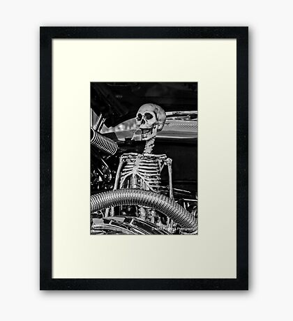 Message Under the Hood...Don't Drink & Drive... Framed Print