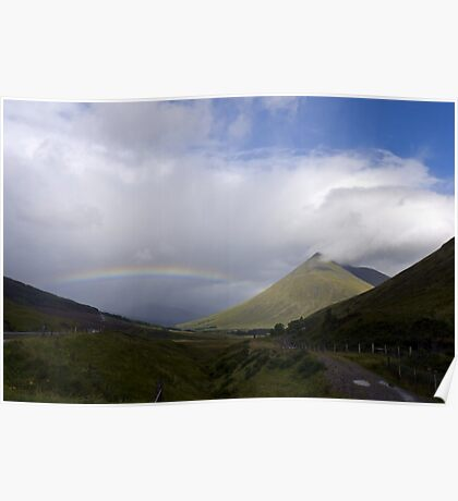 Rainbow over Orchy Poster