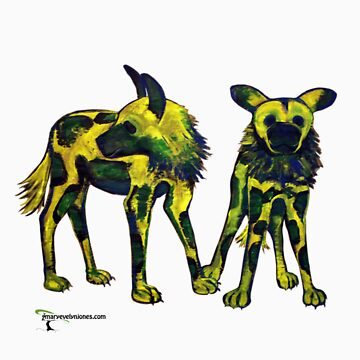 African Wild Dogs by Maryevelyn