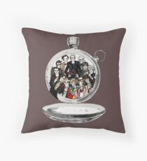 The clock strikes 12 Throw Pillow