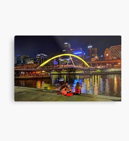 Pedestrian Bridge, Melbourne Metal Print